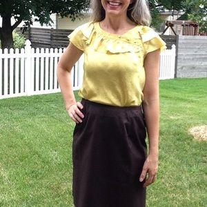 anthro LEIFSDOTTIR vintage style silk blouse 2